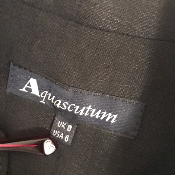 Aquascutum London Dresses & Skirts - Aquascutum Linen black button down dress.